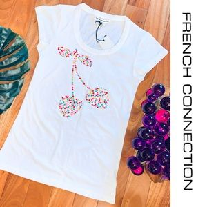 French Connection • 🍒 FCUK Cherry T-Shirt Tee